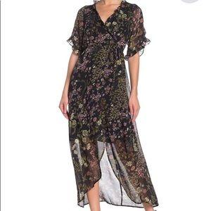 June & Hudson Romantic Floral Faux Wrap Dress
